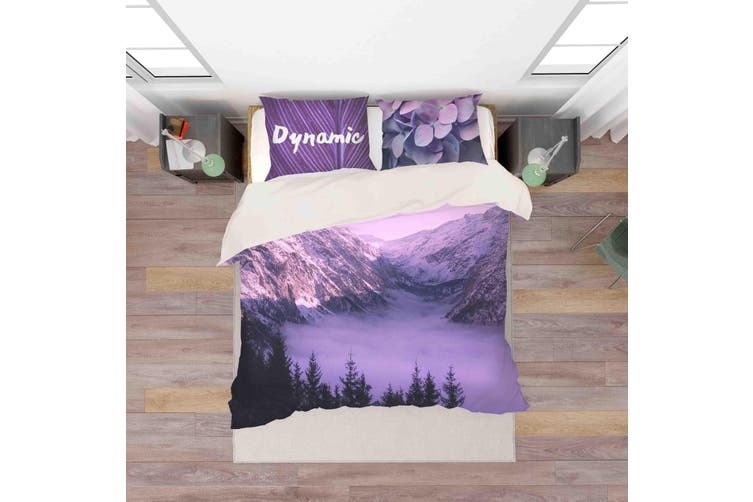 3D Snow Mountain Scenery Quilt Cover Set Bedding Set Pillowcases 153-King