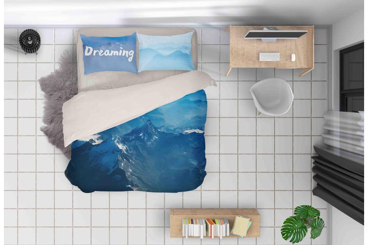 3D Blue Sky Mountain Quilt Cover Set Bedding Set Pillowcases 150-Queen