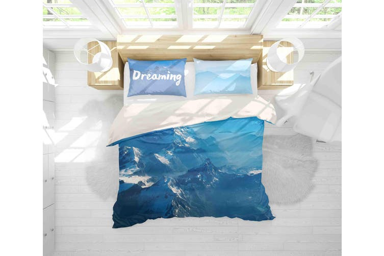 3D Blue Sky Mountain Quilt Cover Set Bedding Set Pillowcases 150-King