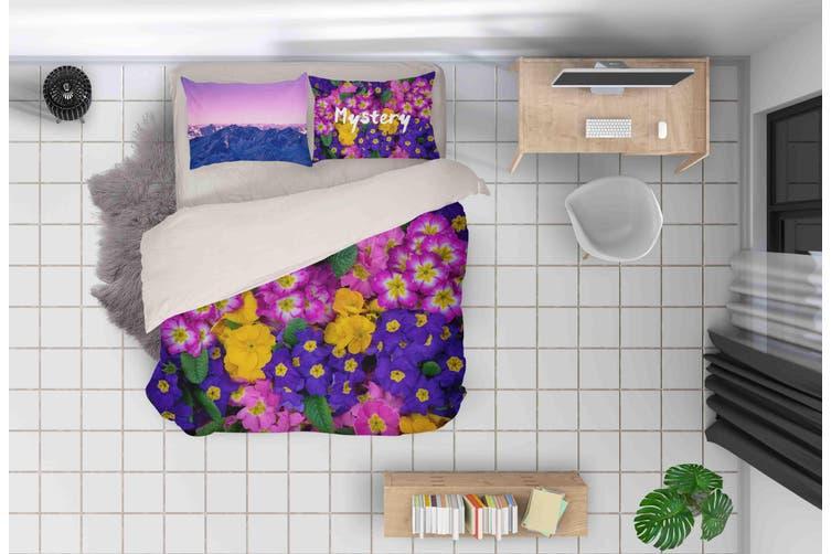 3D Floral Pattern Quilt Cover Set Bedding Set Pillowcases 148-Double