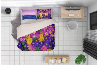 3D Floral Pattern Quilt Cover Set Bedding Set Pillowcases 148-Queen