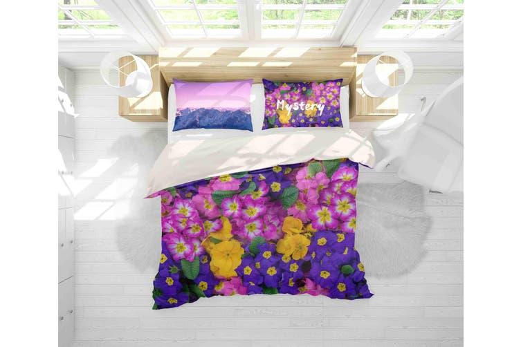 3D Floral Pattern Quilt Cover Set Bedding Set Pillowcases 148-King