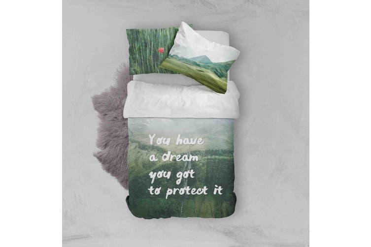 3D Green Forest Quilt Cover Set Bedding Set Pillowcases 146-Queen