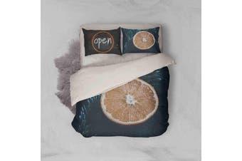 3D Orange Pattern Quilt Cover Set Bedding Set Pillowcases 140-Double