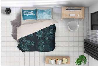 3D Pine Branches Quilt Cover Set Bedding Set Pillowcases 132-Queen
