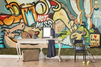 3d abstract cartoon animals graffiti wall mural wallpaper 265 Preminum Non-Woven Paper-W: 525cm X H: 295cm