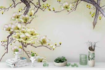 3d blossom branch wall mural wallpaper 194 Preminum Non-Woven Paper-W: 525cm X H: 295cm