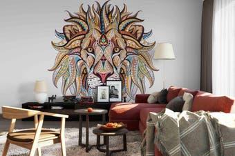 3d lion wall mural wallpaper 190 Preminum Non-Woven Paper-W: 320cm X H: 225cm