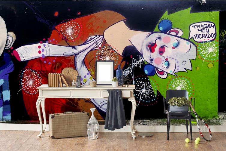 3d abstract retro beauty wall mural wallpaper 244 Preminum Non-Woven Paper-W: 420cm X H: 260cm