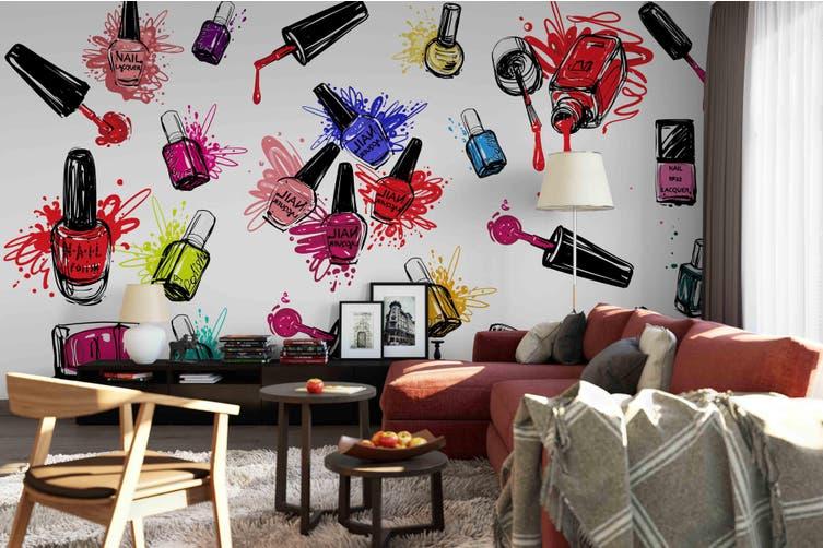 3d nail polish wall mural wallpaper 177 Preminum Non-Woven Paper-W: 320cm X H: 225cm