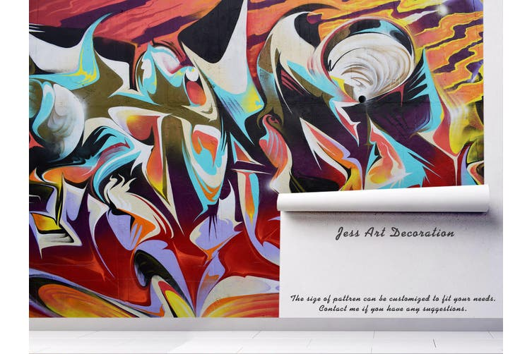 3d abstract graffiti wall mural wallpaper 217 Preminum Non-Woven Paper-W: 420cm X H: 260cm