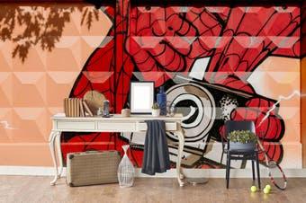 3d watercolor red hands camera wall mural wallpaper 218 Preminum Non-Woven Paper-W: 420cm X H: 260cm