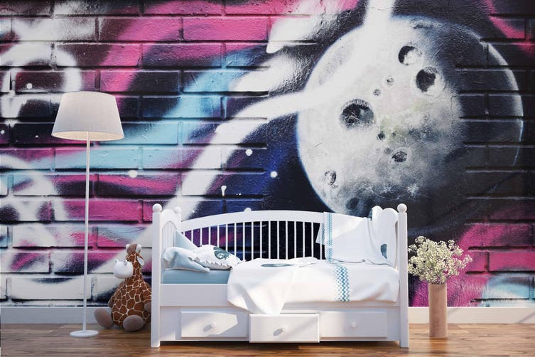3d brick abstract planet graffiti wall mural wallpaper 211 Preminum Non-Woven Paper-W: 320cm X H: 225cm