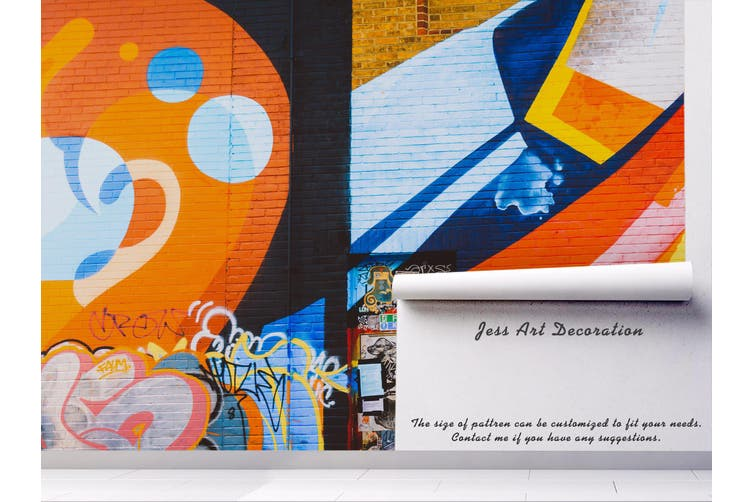 3d abstract colorful graffiti wall mural wallpaper 205 Preminum Non-Woven Paper-W: 525cm X H: 295cm