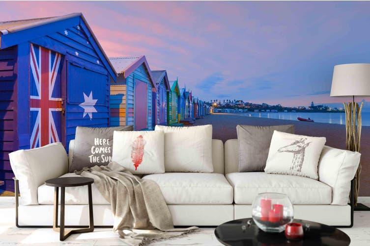 3d house sea beach wall mural wallpaper 149 Preminum Non-Woven Paper-W: 210cm X H: 146cm