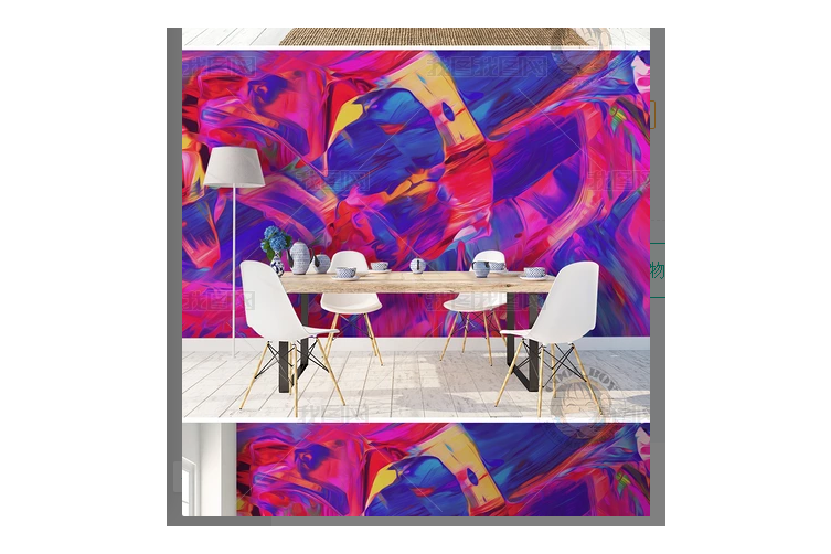 3D Nordic Modern Simplicity Abstract Oil Painting Wall Mural Wallpaper 18 Self-adhesive Laminated Vinyl - W: 210cm X H: 146cm