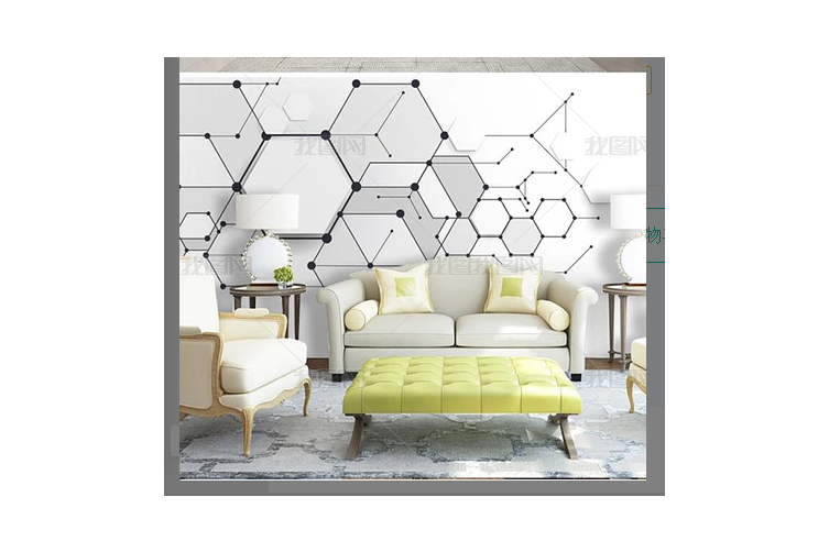 3D Geometric Hexagon Wall Mural Wallpaper 04 Preminum Non-Woven Paper - W: 525cm X H: 295cm