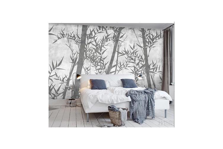 3D Hand Painted Bamboo Wall Mural Wallpaper 124 Preminum Non-Woven Paper - W: 420cm X H: 260cm