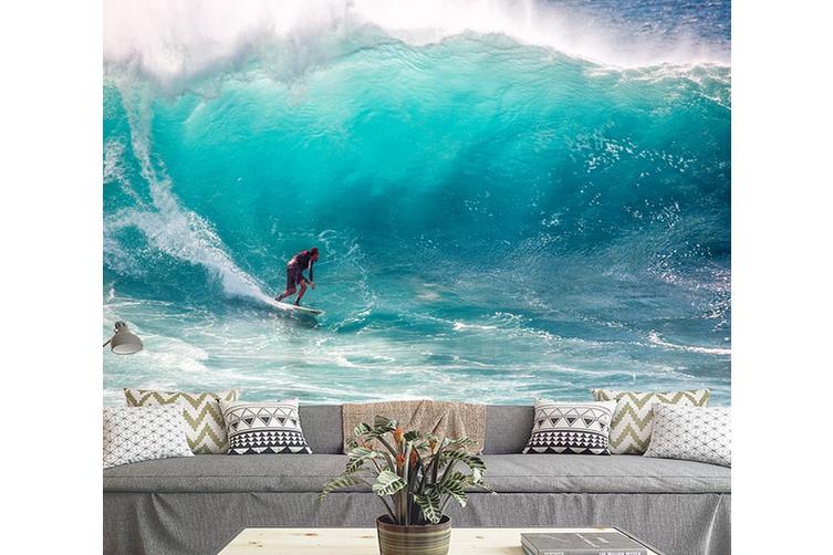 3D Blue Sea Waves Wall Mural Wallpaper 174 Preminum Non-Woven Paper - W: 210cm X H: 146cm