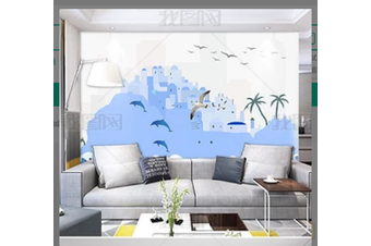 3D Nordic Style Abstract Style Wall Mural Wallpaper 425 Preminum Non-Woven Paper - W: 320cm X H: 225cm