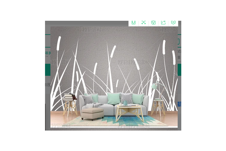 3D Gray Reed Wall Mural Wallpaper 475 Preminum Non-Woven Paper - W: 210cm X H: 146cm
