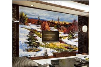 3D Snow Forest Scenery Wall Mural Wallpaper 114 Preminum Non-Woven Paper - W: 420cm X H: 260cm
