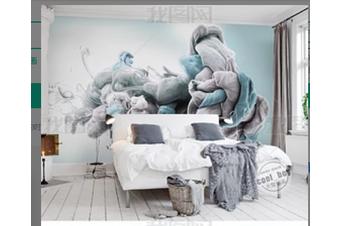3D Modern Simplicity Green Leaves Wall Mural Wallpaper 395 Preminum Non-Woven Paper - W: 525cm X H: 295cm