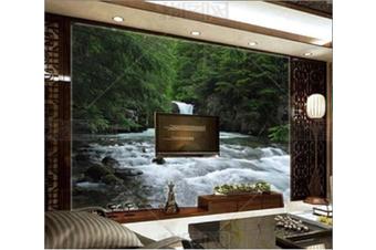 3D Green Forest Stream Wall Mural Wallpaper 113 Preminum Non-Woven Paper - W: 210cm X H: 146cm