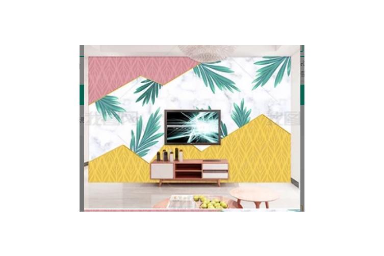 3D Modern Simplicity Green Leaves Wall Mural Wallpaper 394 Preminum Non-Woven Paper - W: 420cm X H: 260cm