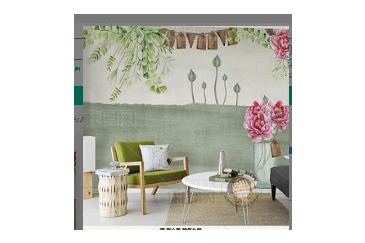 3D Modern Simplicity Green Leaves Wall Mural Wallpaper 392 Preminum Non-Woven Paper - W: 420cm X H: 260cm