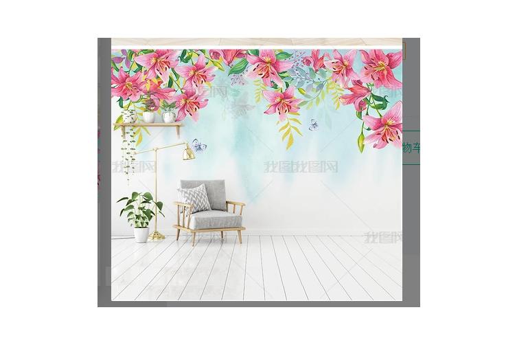 3D Flower Wall Mural Wallpaper 464 Preminum Non-Woven Paper - W: 420cm X H: 260cm