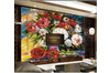 3D Hand Painted Flowers Wall Mural Wallpaper 108 Preminum Non-Woven Paper - W: 210cm X H: 146cm
