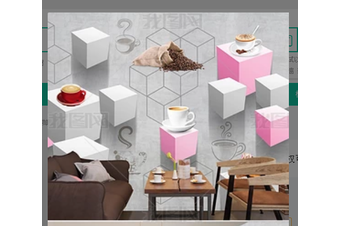 3D Modern Simplicity Solid Geometry Wall Mural Wallpaper 387 Preminum Non-Woven Paper - W: 420cm X H: 260cm