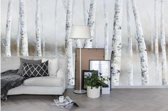3D birch forest wall mural wallpaper 22 Self-adhesive Laminated Vinyl