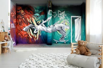 3D Abstract Dragon Monster Wall Mural Wallpaper B25 Self-adhesive Laminated Vinyl-W: 320cm X H: 225cm