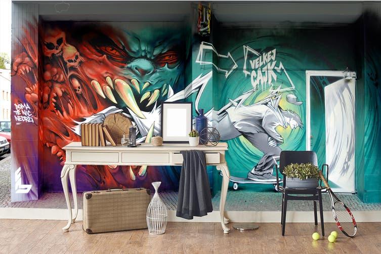 3D Abstract Dragon Monster Wall Mural Wallpaper B25 Self-adhesive Laminated Vinyl-W: 525cm X H: 295cm