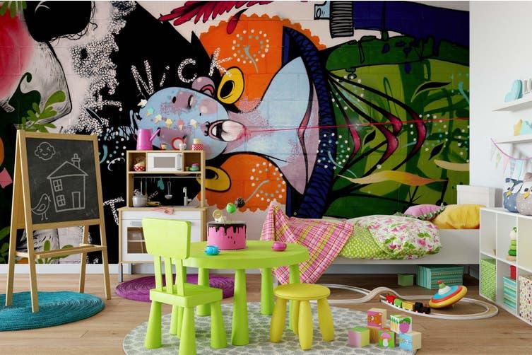 3D Abstract Bird Graffiti Wall Mural Wallpaper B15 Self-adhesive Laminated Vinyl-W: 420cm X H: 260cm