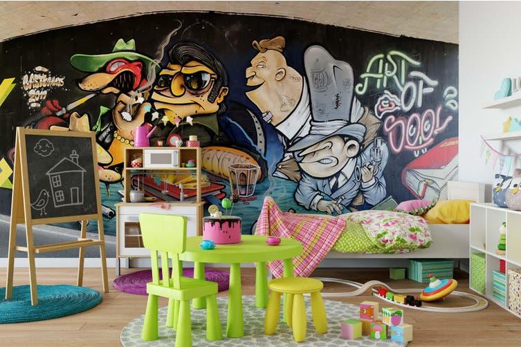 3D Cartoon Abstract Monster Wall Mural Wallpaper B09 Self-adhesive Laminated Vinyl-W: 320cm X H: 225cm