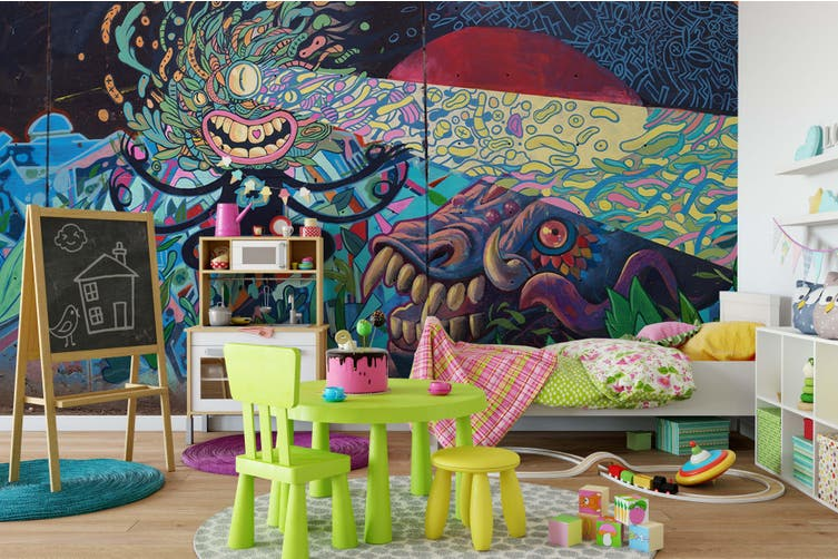 3D Abstract Seabed Monster  Wall Mural Wallpaper B01 Self-adhesive Laminated Vinyl-W: 420cm X H: 260cm