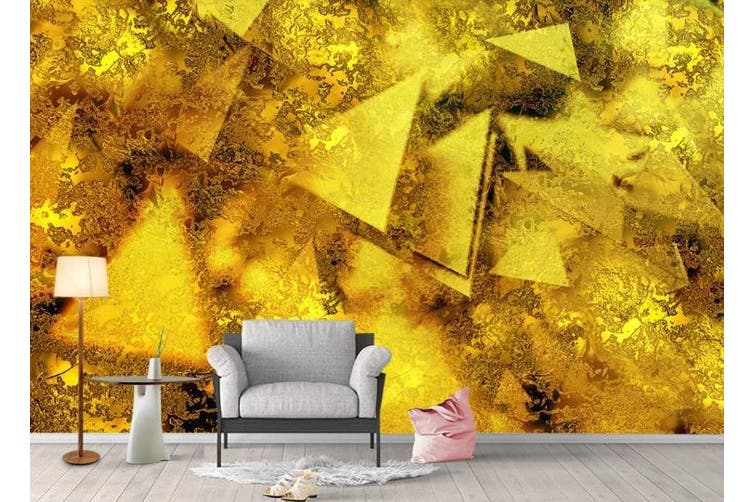3D Color Abstract Geometry Graphical Wall Mural Wallpaper  D96 Self-adhesive Laminated Vinyl-W: 210cm X H: 146cm