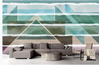 3D Color Abstract Geometry Graphical Wall Mural Wallpaper  D95 Self-adhesive Laminated Vinyl-W: 210cm X H: 146cm