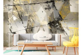 3D Color Abstract Geometry Graphical Wall Mural Wallpaper  D92 Self-adhesive Laminated Vinyl-W: 525cm X H: 295cm