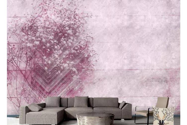 3D Romantic Pink Flowers Wall Mural Wallpaper  D91 Self-adhesive Laminated Vinyl-W: 320cm X H: 225cm
