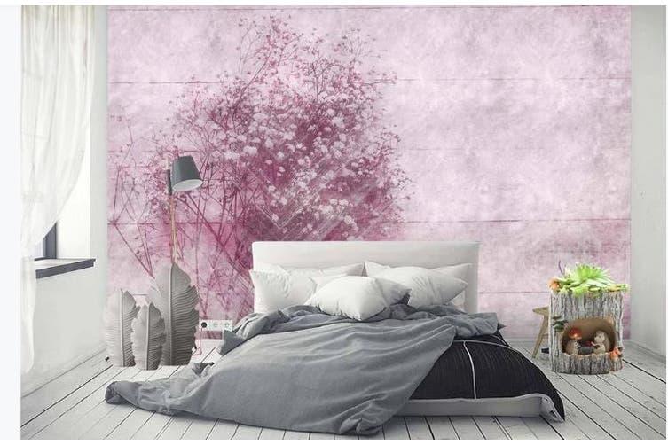 3D Romantic Pink Flowers Wall Mural Wallpaper  D91 Self-adhesive Laminated Vinyl-W: 420cm X H: 260cm