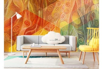 3D Color Abstract Geometry Graphical Wall Mural Wallpaper  D88 Self-adhesive Laminated Vinyl-W: 210cm X H: 146cm