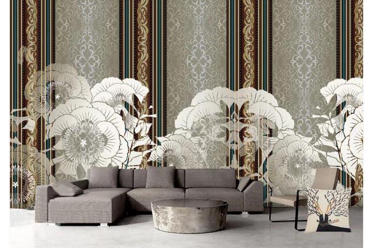 3D Simplicity Style Flowers Wall Mural Wallpaper  D87 Self-adhesive Laminated Vinyl-W: 420cm X H: 260cm
