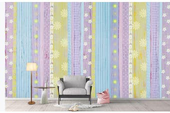 3D Color Stripes Background Wall Mural Wallpaper  D86 Self-adhesive Laminated Vinyl-W: 210cm X H: 146cm