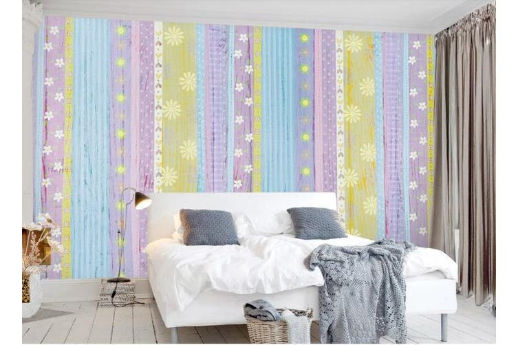 3D Color Stripes Background Wall Mural Wallpaper  D86 Self-adhesive Laminated Vinyl-W: 525cm X H: 295cm