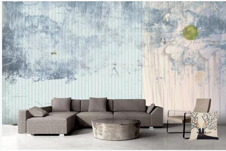 3D Retro Geometry Graphical Wall Mural Wallpaper  D83 Self-adhesive Laminated Vinyl-W: 320cm X H: 225cm