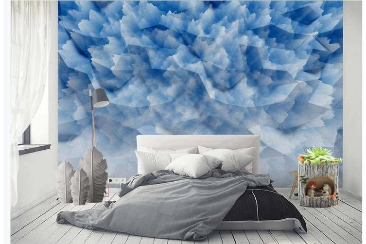 3D Solid Geometry Graphical Wall Mural Wallpaper  D82 Self-adhesive Laminated Vinyl-W: 210cm X H: 146cm